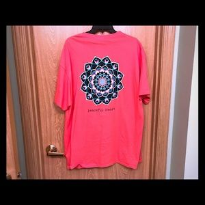 "Simply Southern Coral Mandala ""Peaceful Heart"" Tee"